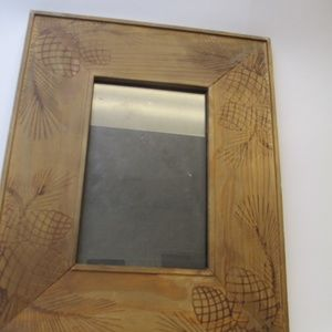 Vintage Pine Cone Wood Picture frame